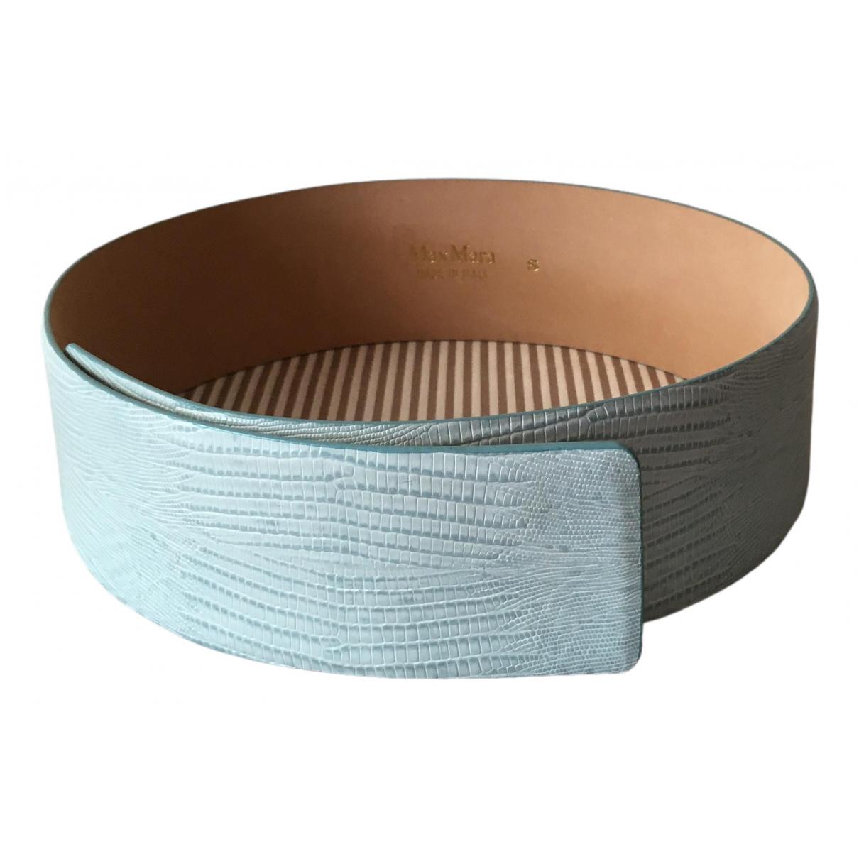 Max Mara \N Blue Leather belt for Women S International