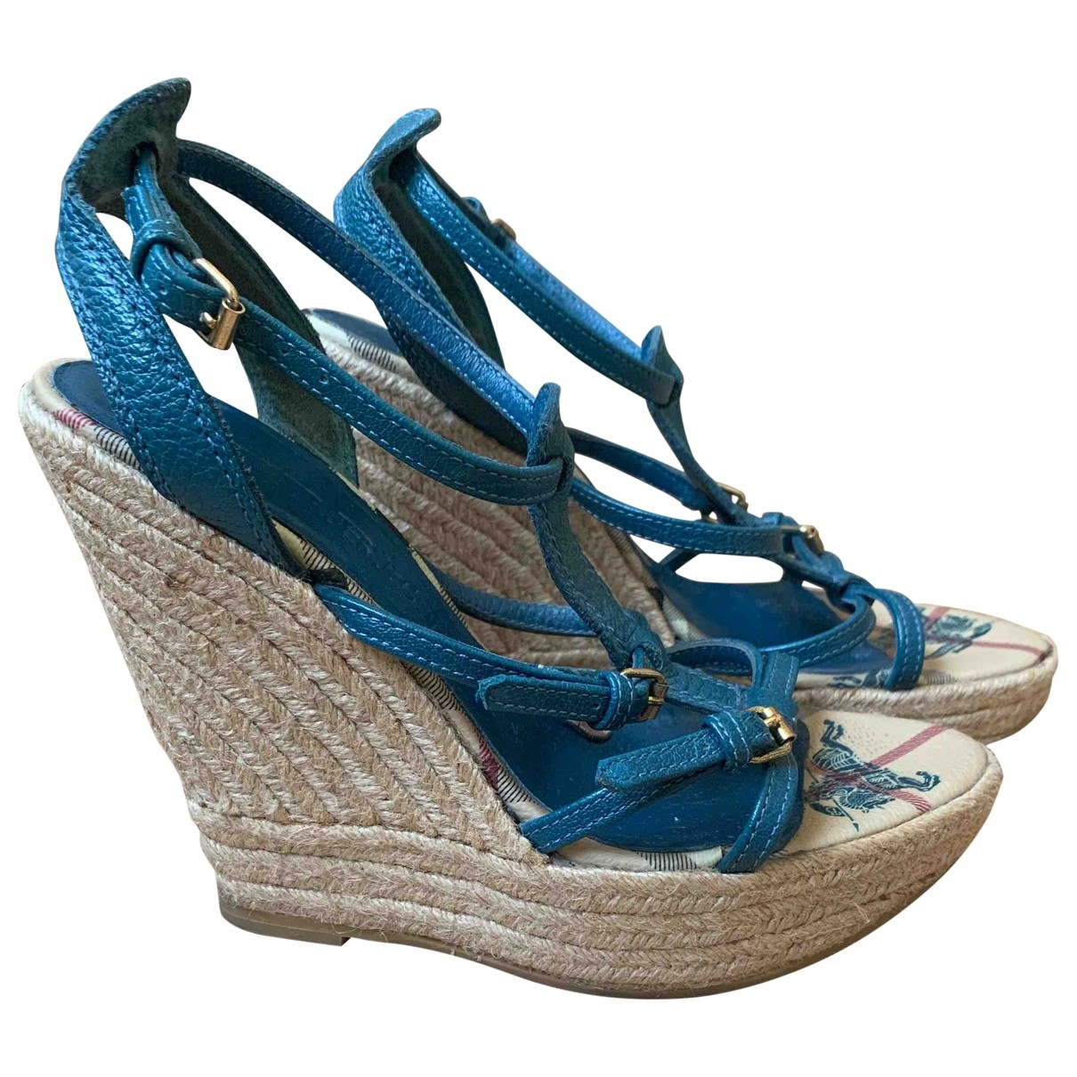 Burberry \N Sandalen in  Blau Leder