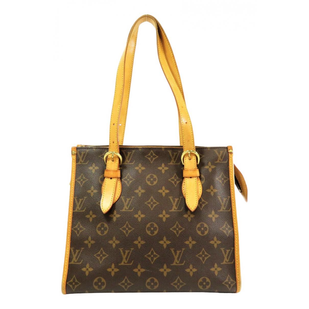 Louis Vuitton - Sac a main Popincourt pour femme en toile - marron