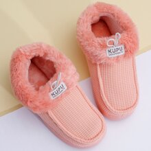 Slip On Fur Lined Warm Slippers