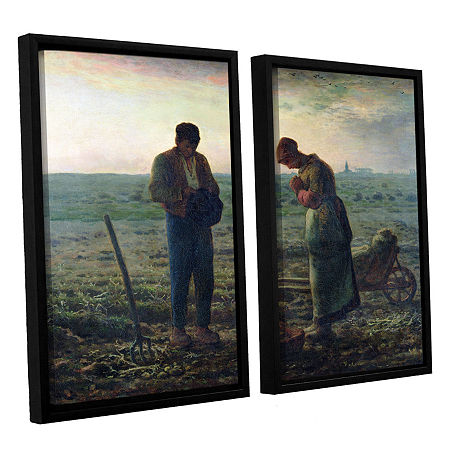 Brushstone The Angelus 2-pc. Floater Framed Canvas Wall Art, One Size , Blue