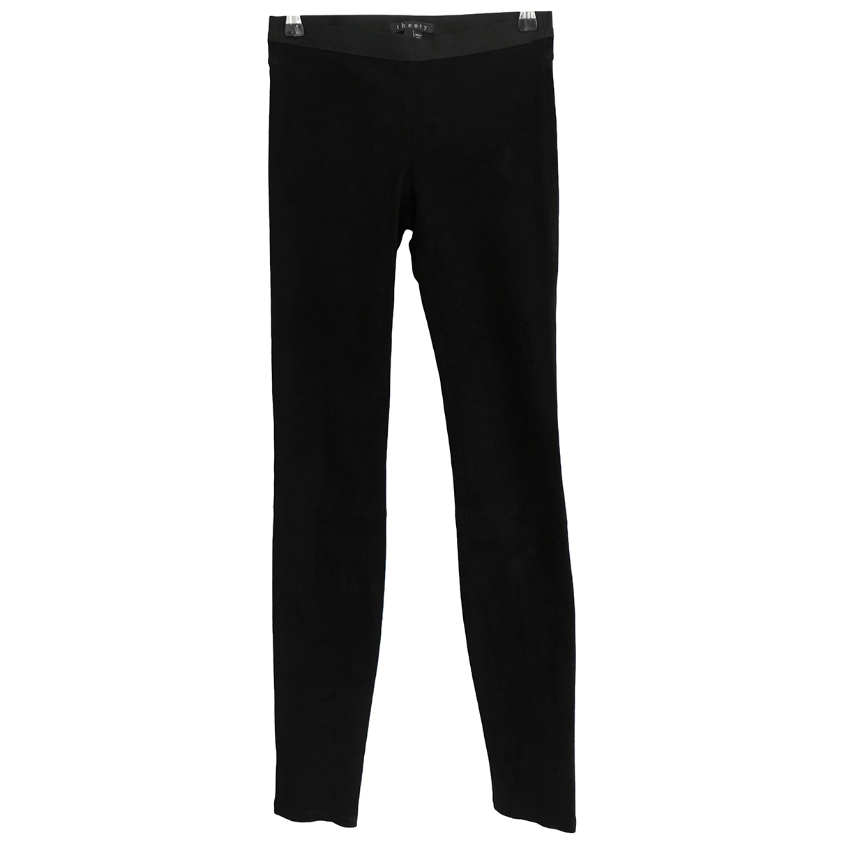 Theory N Black Suede Trousers for Women 2 US