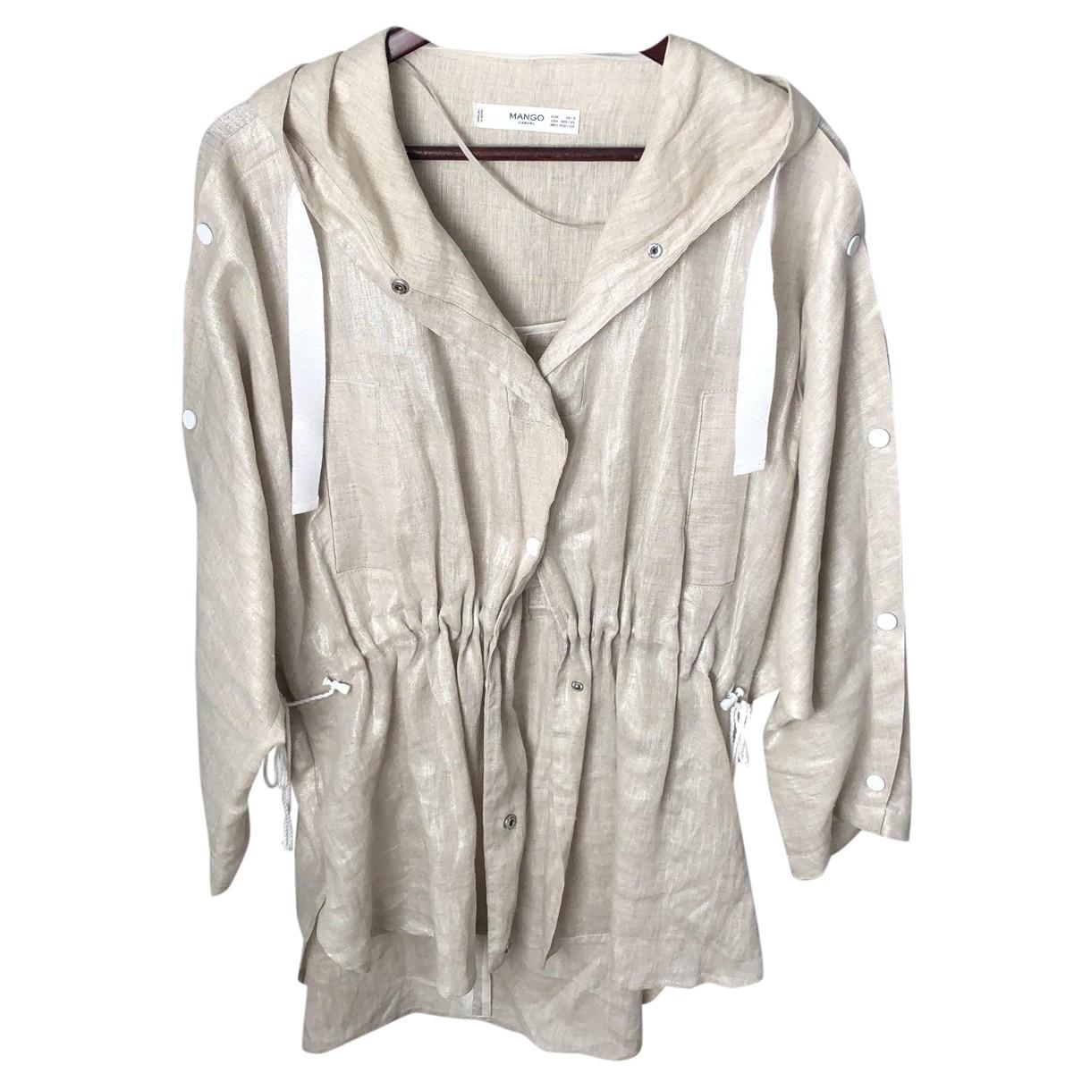 Mango N Beige Linen jacket for Women S International