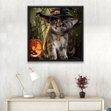 Halloween Cat Pattern DIY Diamond Painting