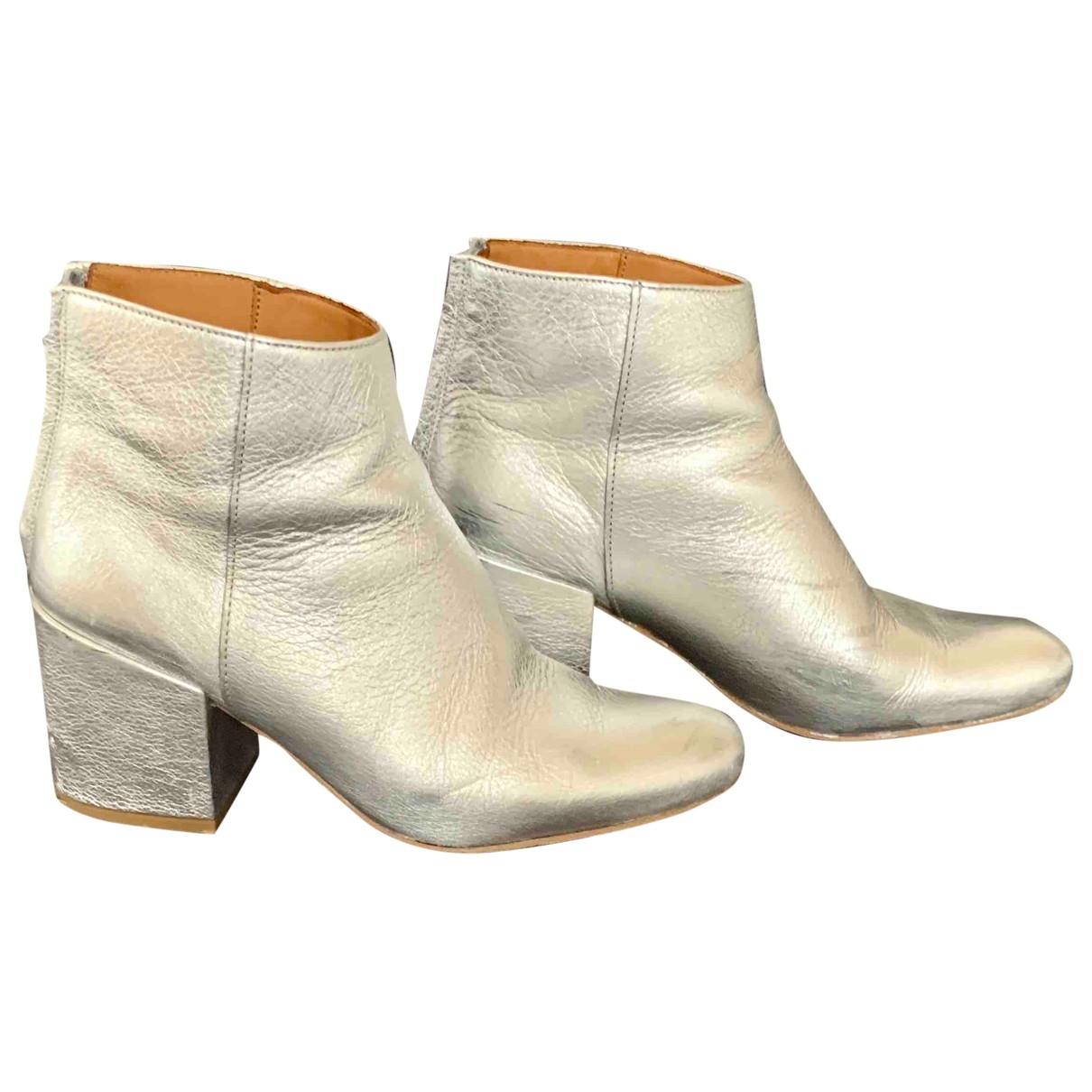 Anthology Paris - Boots   pour femme en cuir - argente