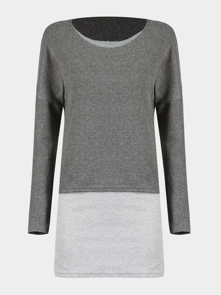 Yoins Double Layer Top in Grey