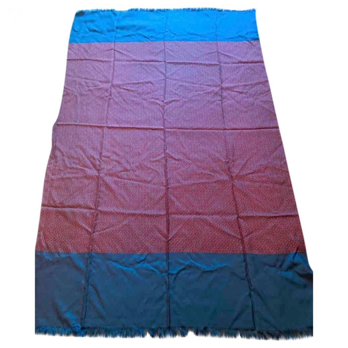 Hermes - Cheches.Echarpes   pour homme en soie - bleu