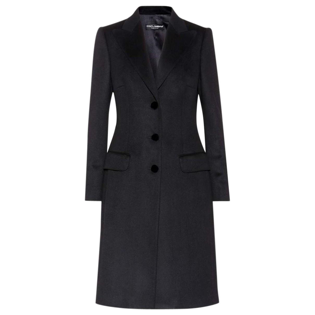 Dolce & Gabbana N Black Wool coat for Women 42 IT