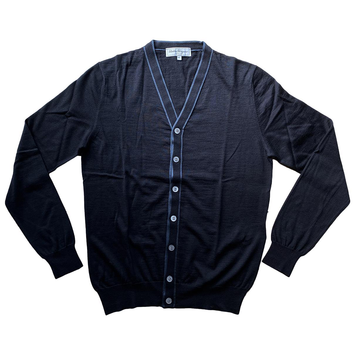 Salvatore Ferragamo \N Pullover.Westen.Sweatshirts  in  Schwarz Wolle