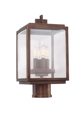 Chester Outdoor 403800CP Large Post - Pier Mount in Copper