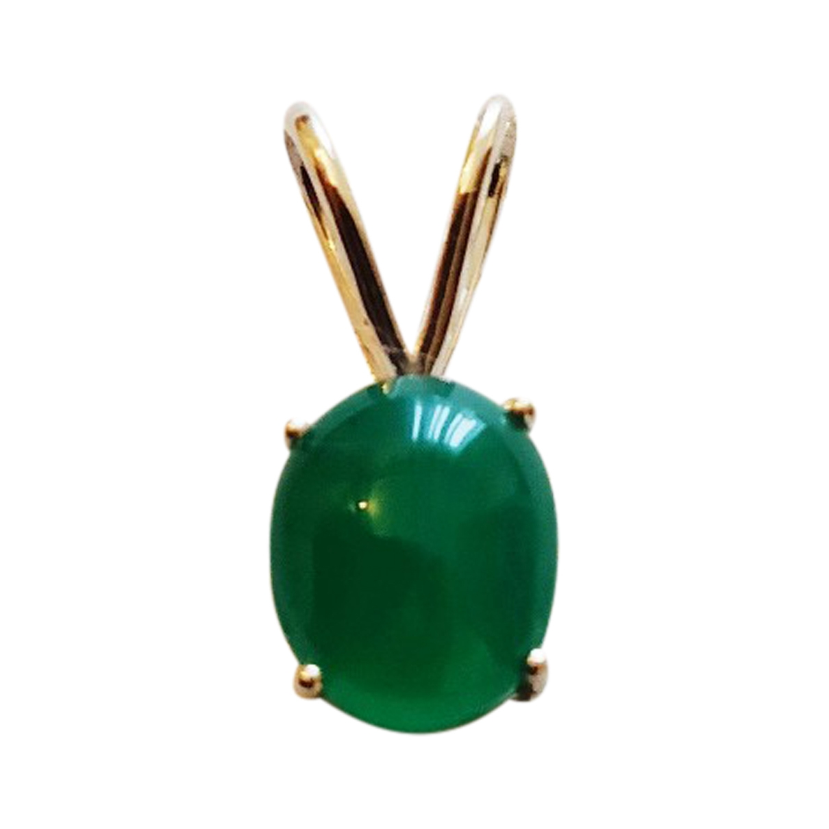 Non Signé / Unsigned \N Green Silver pendant for Women \N
