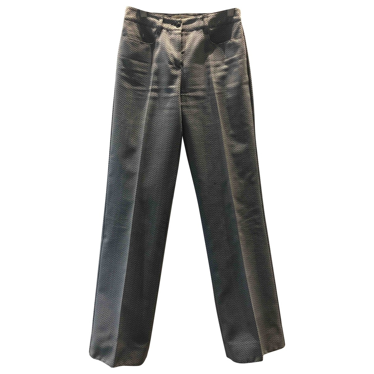 Miu Miu \N Blue Trousers for Women 38 IT