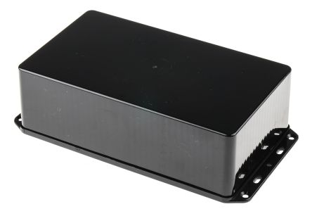 RS PRO Black ABS Enclosure, IP54, Flanged, 210 x 112 x 61mm