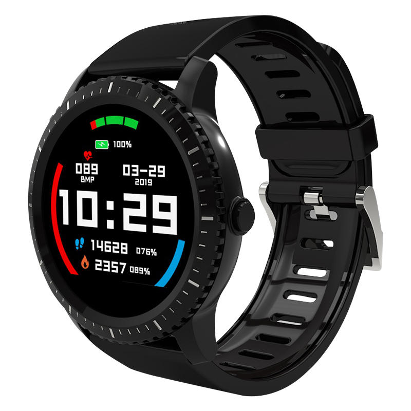 Bakeey Watch3 1.22' Full Round Screen Heart Rate IP68 Custom Watch Face 30Days Standby Smart Watch