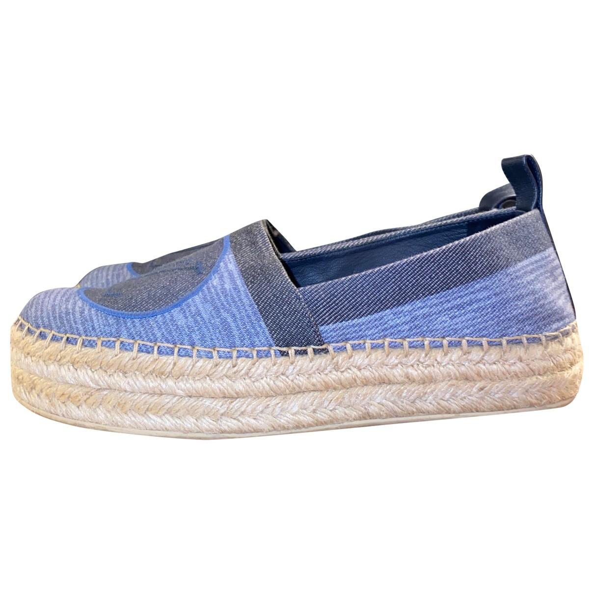 Louis Vuitton Seashore Espadrilles in  Blau Denim - Jeans