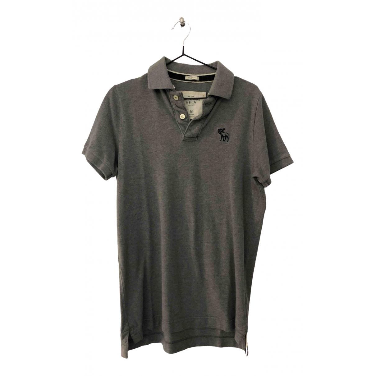 Abercrombie & Fitch - Polos   pour homme en coton - gris