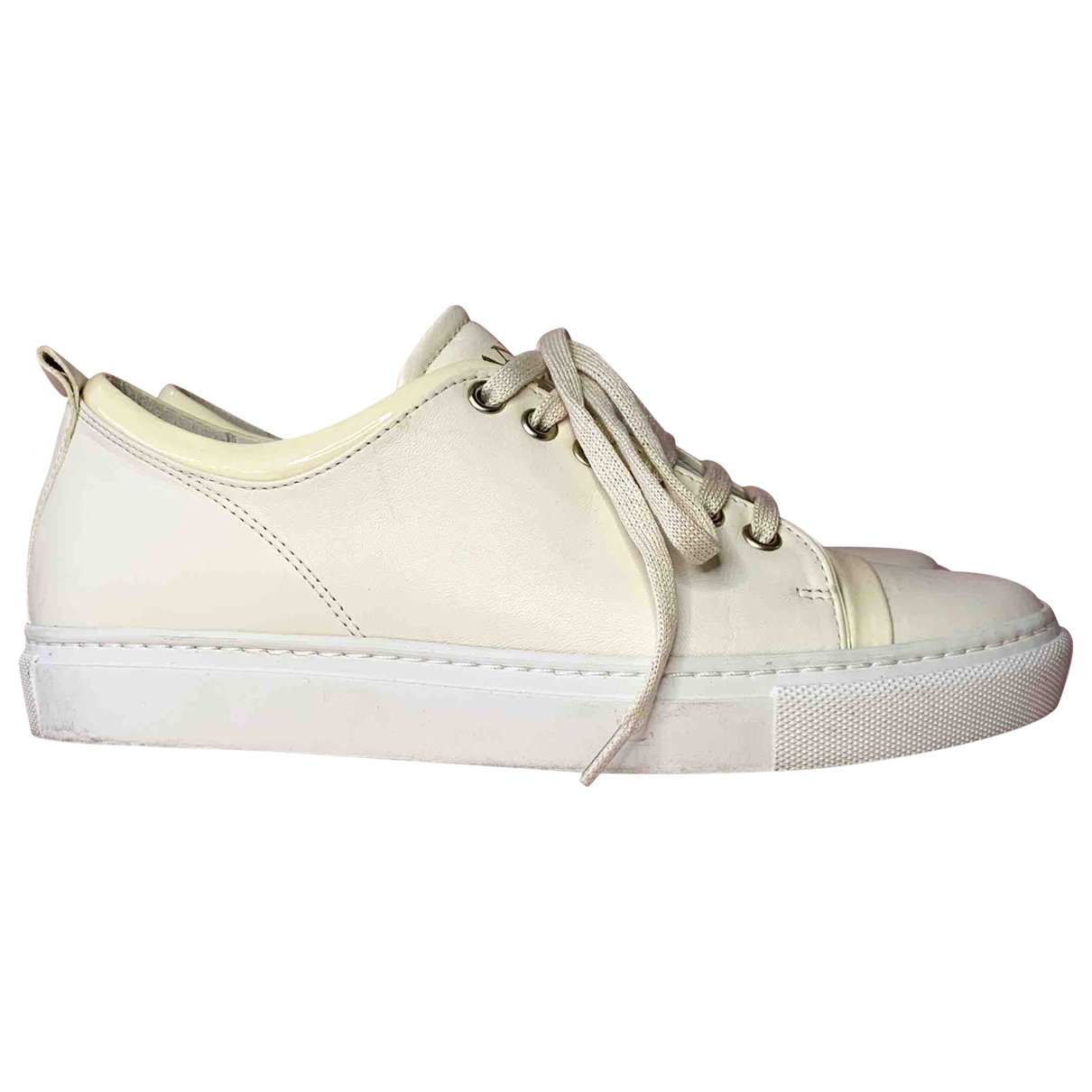 Lanvin \N White Leather Trainers for Women 37 EU