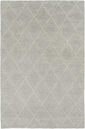 Jaque JAQ-4000 6' x 9' Rectangle Modern Rug in Light Gray