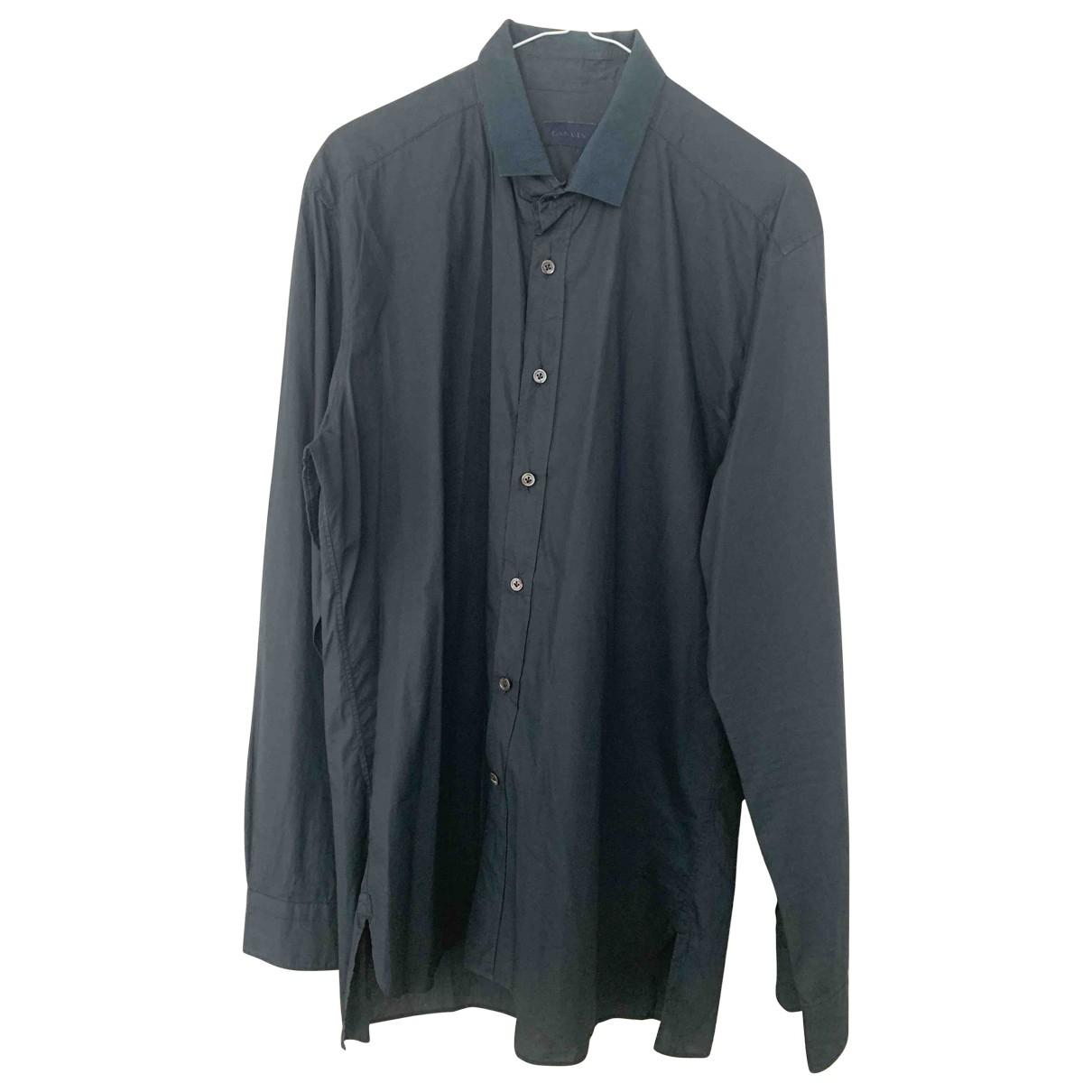 Lanvin \N Navy Cotton Shirts for Men XL International