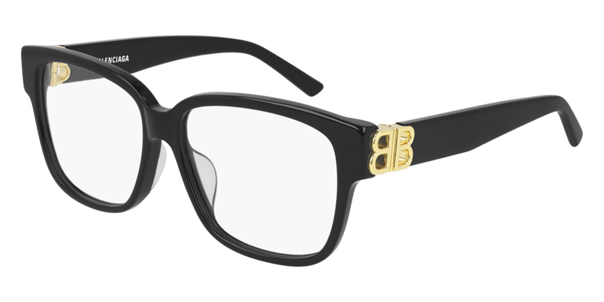 Balenciaga BB0104O 001 Women's Glasses Black Size 56 - Free Lenses - HSA/FSA Insurance - Blue Light Block Available