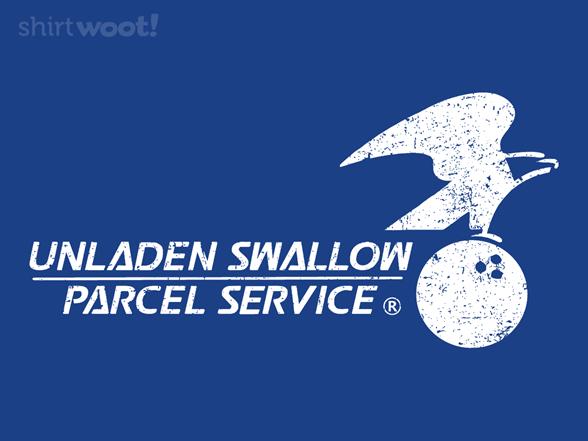 Unladen Swallow Parcel Service T Shirt