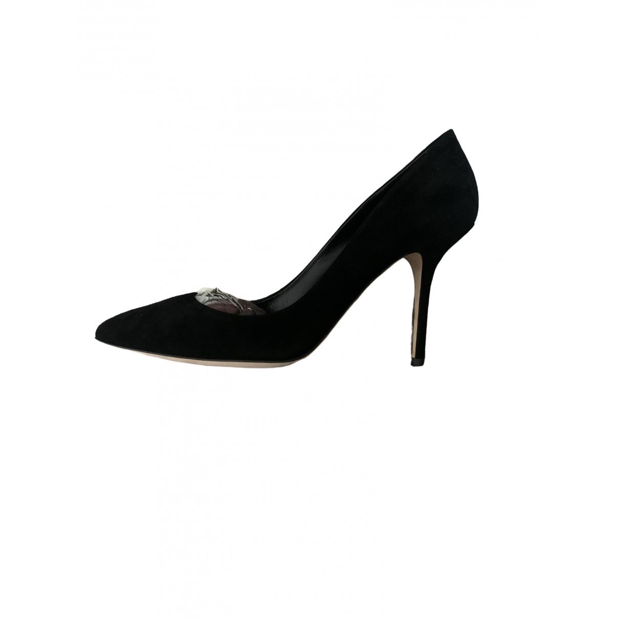 Dolce & Gabbana - Escarpins   pour femme en suede - noir