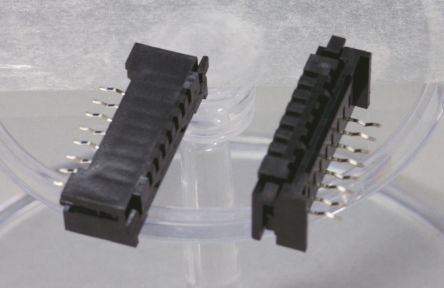 JST 2.54mm Pitch 8 Way Right Angle Female FPC Connector, ZIF Top and Bottom Contact (10)