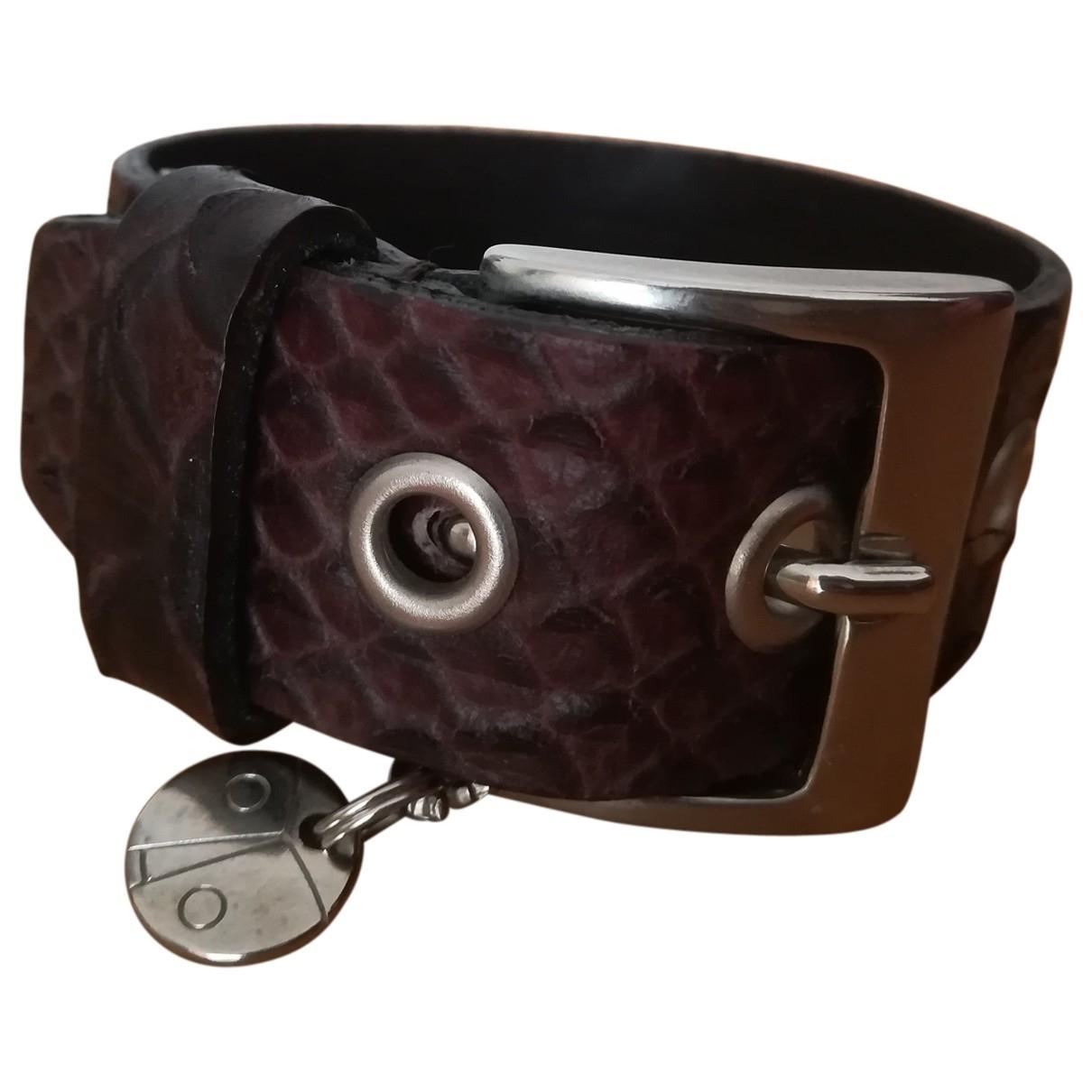 Coccinelle \N Armband in  Braun Leder