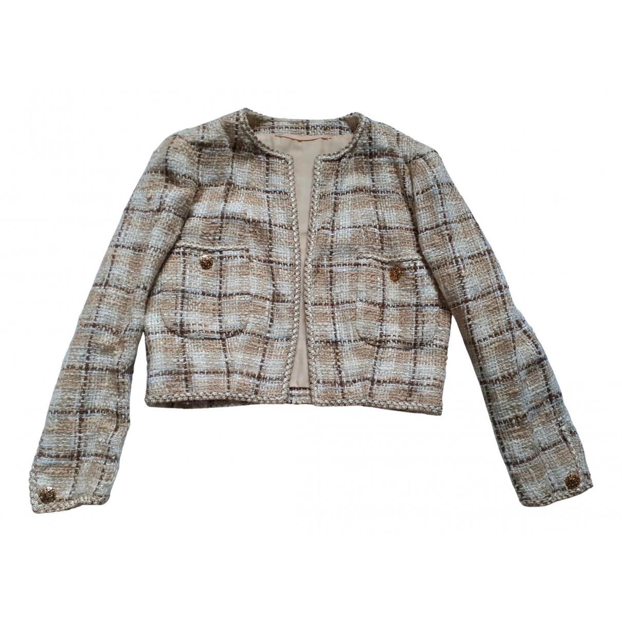 - Veste Epaulettes pour femme en laine - beige