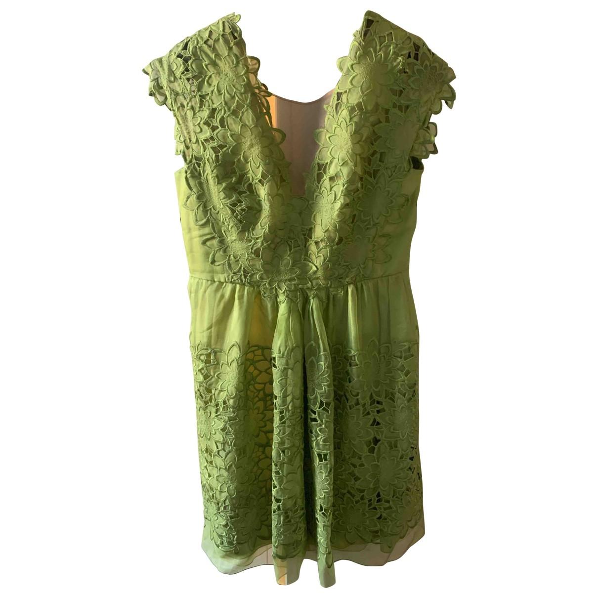 Alberta Ferretti \N Kleid in  Gruen Seide