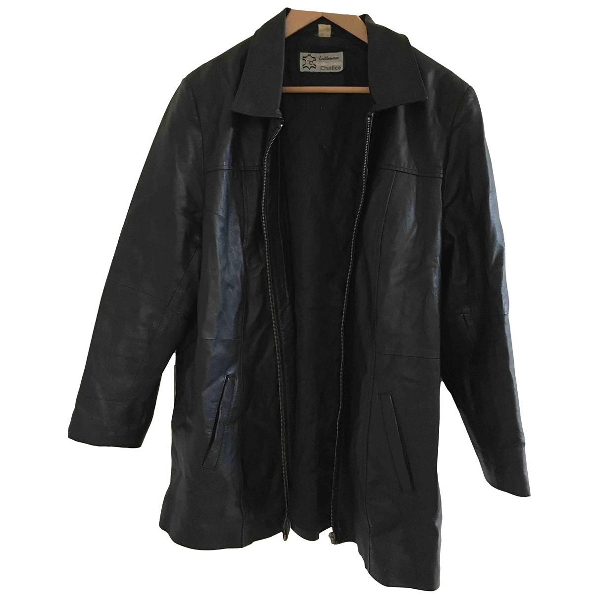 Understated Leather - Vestes.Blousons   pour homme en cuir - noir