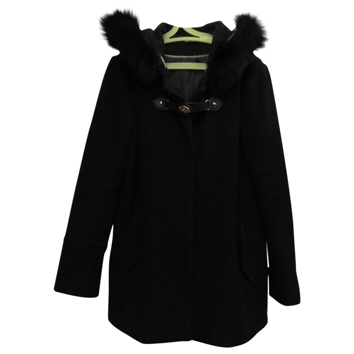 Nina Kauffmann - Manteau   pour femme en laine - noir