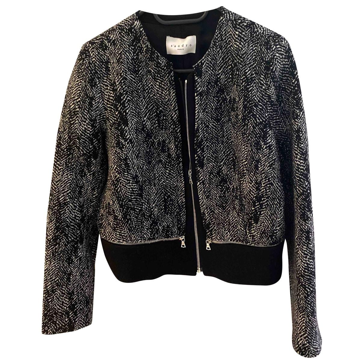 Sandro - Veste   pour femme en laine - gris