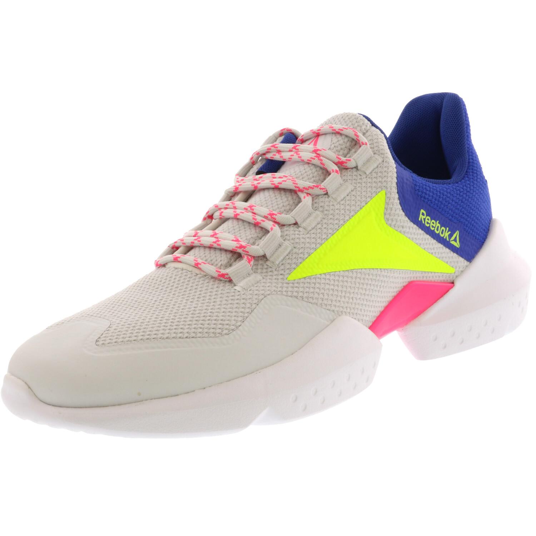 Reebok Women's Split Fuel True Grey 1 / Crushed Cobalt Safety Yellow Ankle-High Running - 8M