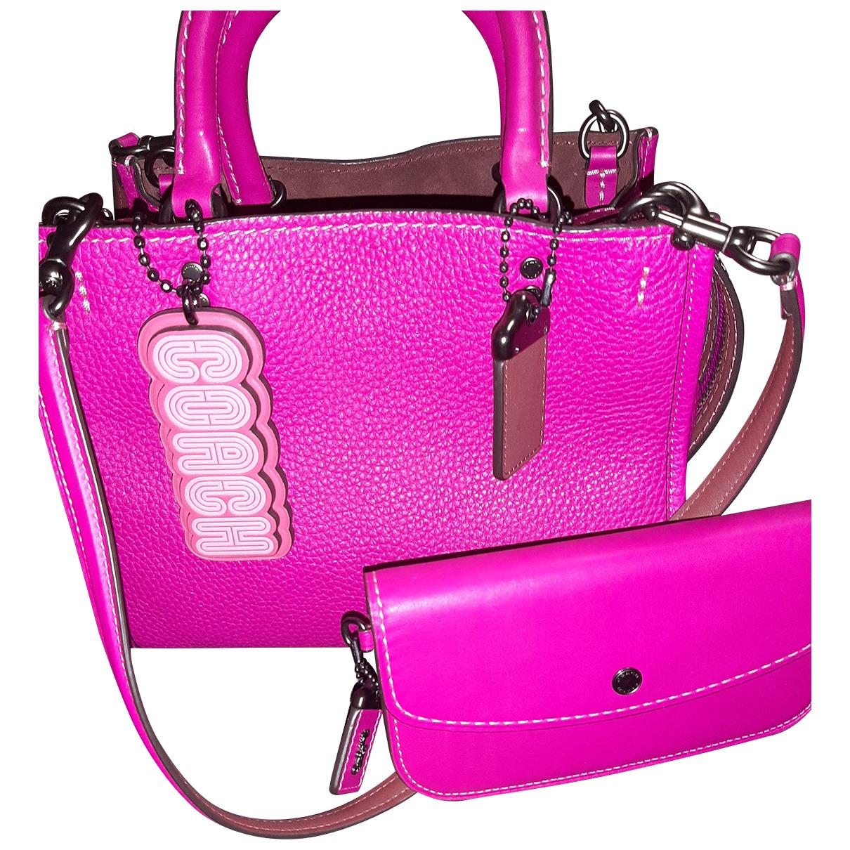 Coach \N Handtasche in  Rosa Leder