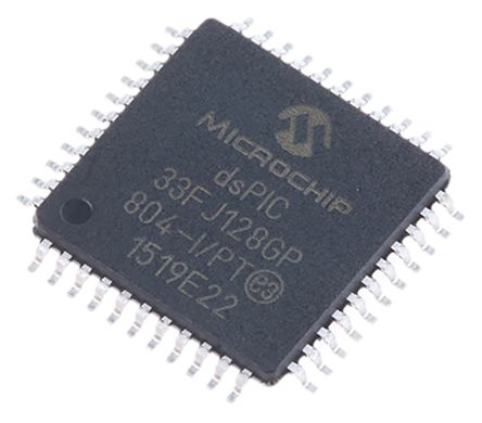 Microchip dsPIC33FJ128GP804-I/PT , 16bit Digital Signal Processor 40MHz 128 kB Flash 44-Pin TQFP