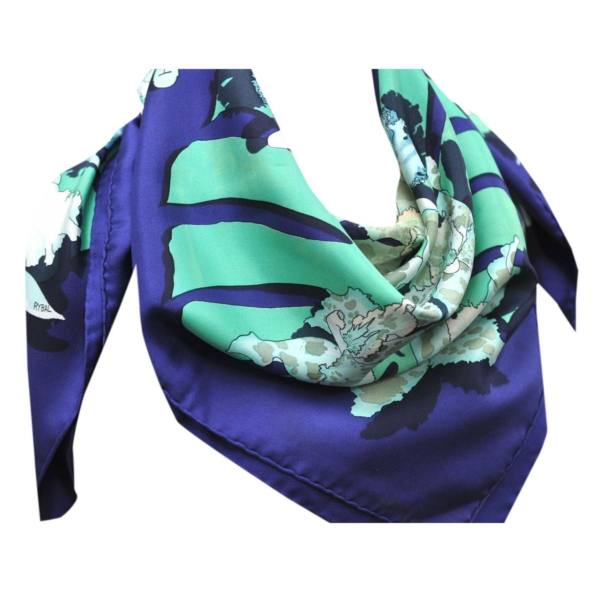 Hermès N Blue Silk scarf for Women N