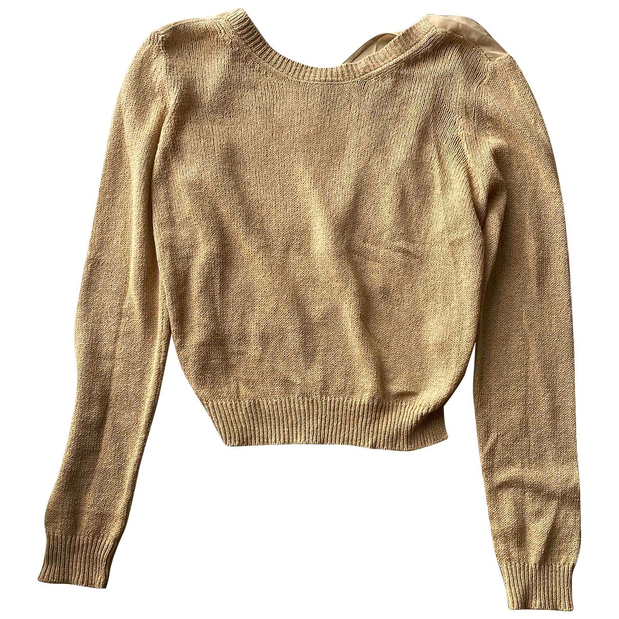Non Signe / Unsigned \N Pullover in  Beige Leinen