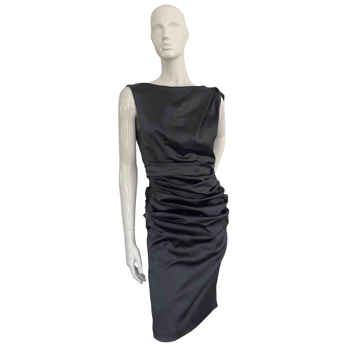 Talbot Runhof - Robe   pour femme en coton - elasthane - anthracite