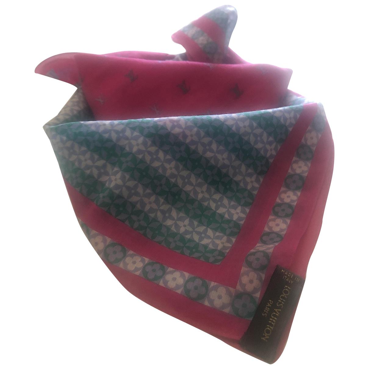 Louis Vuitton \N Multicolour Cotton Silk handkerchief for Women \N