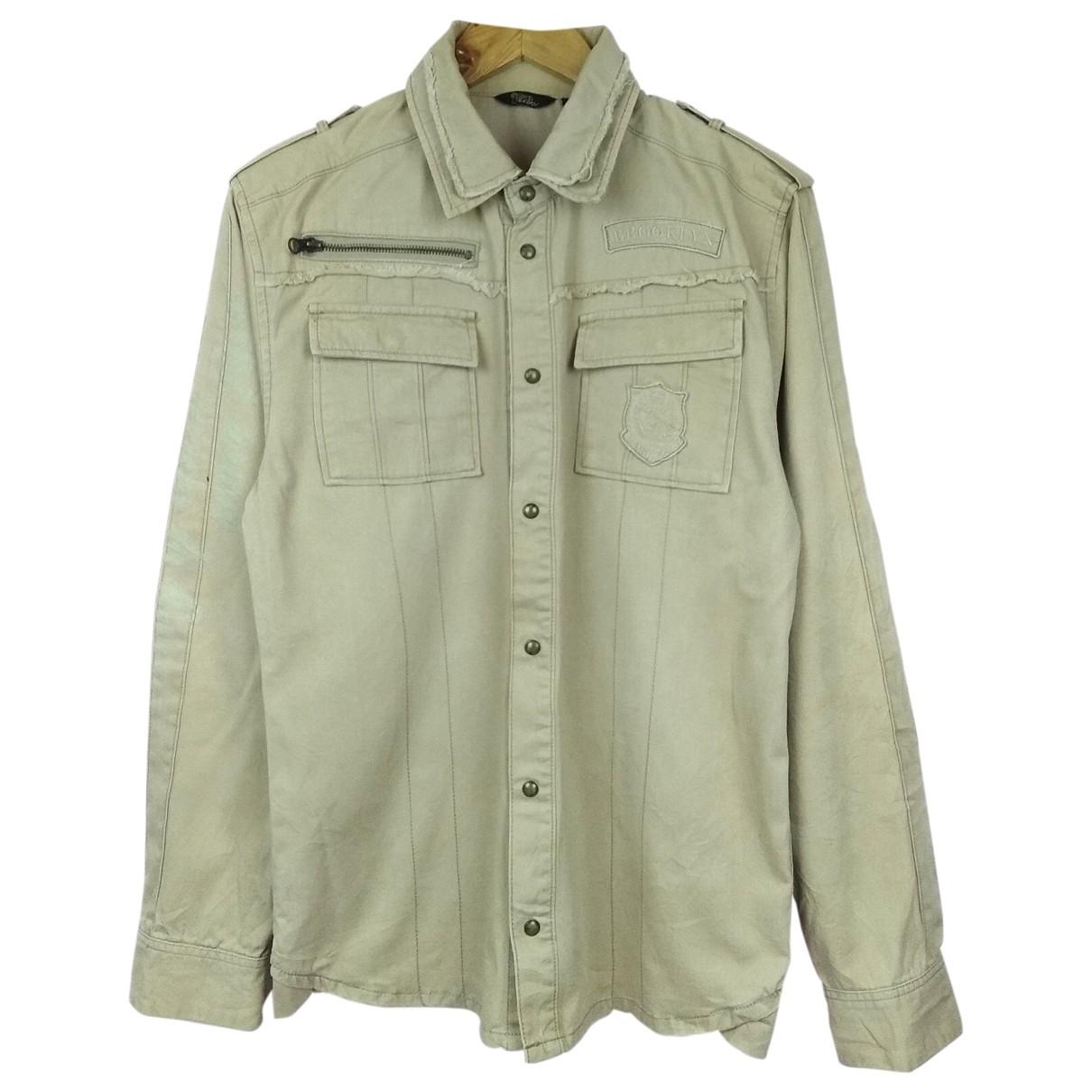 Non Signe / Unsigned \N Hemden in  Kamel Baumwolle