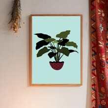 Wandmalerei mit Pflanzen Muster ohne Fuelle