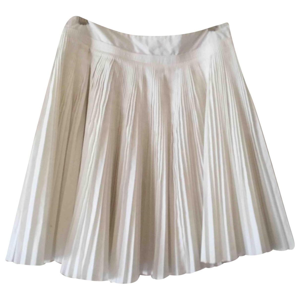 Pedro Del Hierro - Jupe   pour femme en coton - blanc