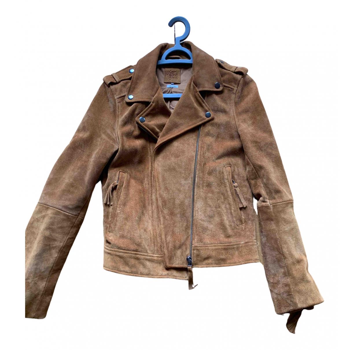 Karl Marc John N Camel Leather Leather jacket for Women 38 FR