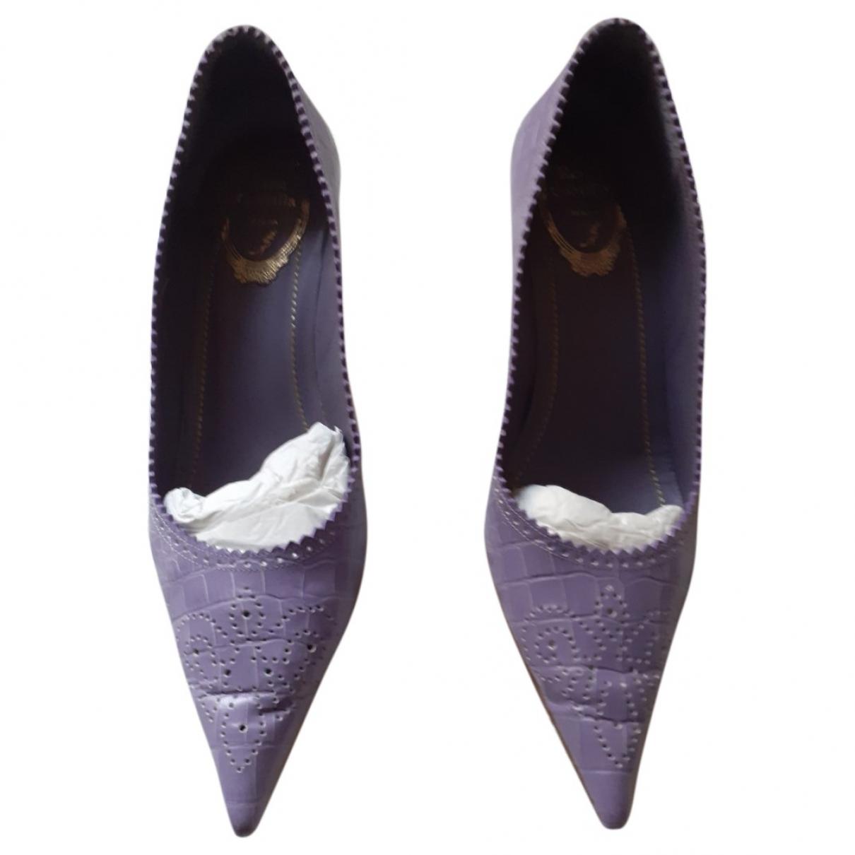 Rene Caovilla - Escarpins   pour femme en cuir - violet