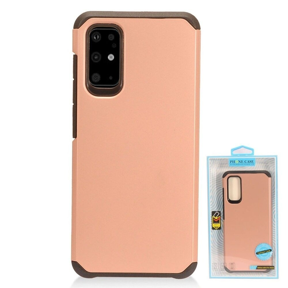 Insten Hard Hybrid TPU Cover Case For Samsung Galaxy S20 - Rose Gold/Black (Gold)