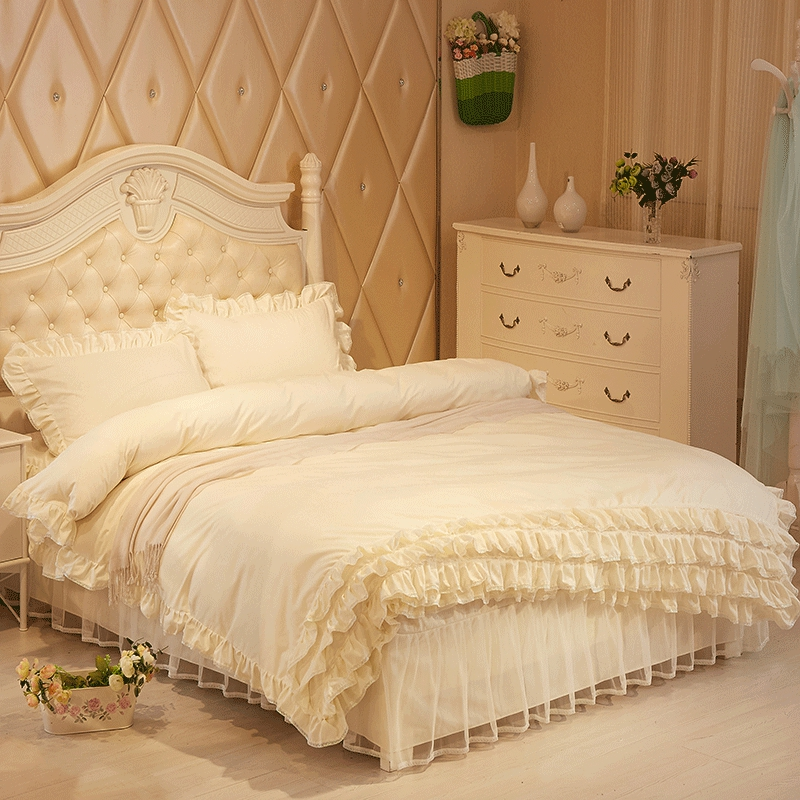 Romantic Princess Style Polyester 4-Piece Duvet Cover Set
