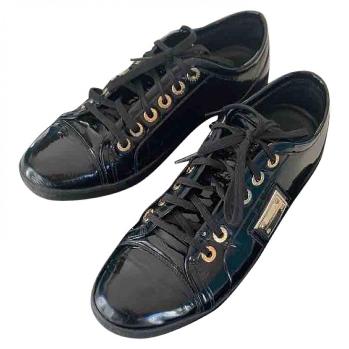 Dolce & Gabbana \N Sneakers in  Schwarz Lackleder