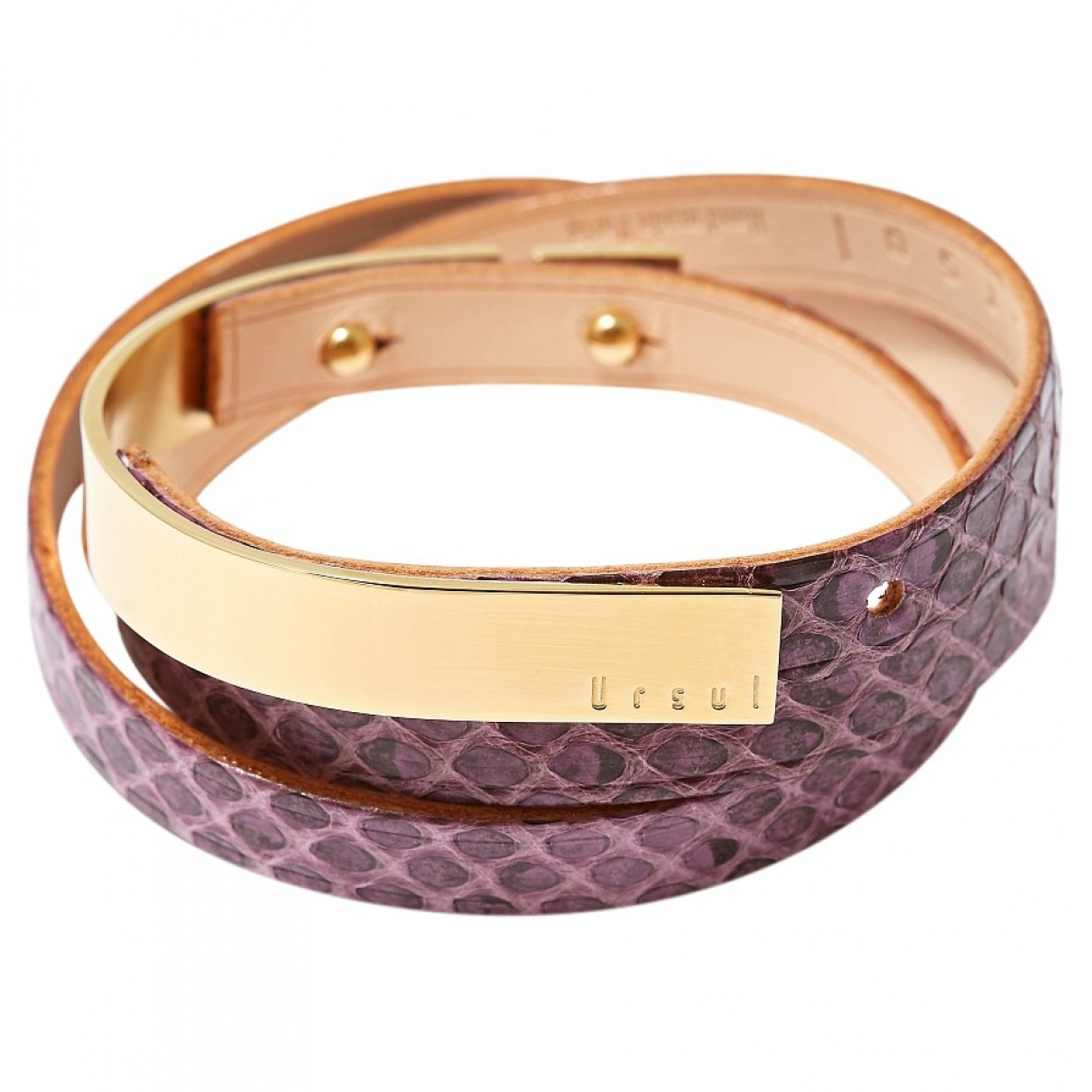 - Bracelet   pour femme en cuir - violet