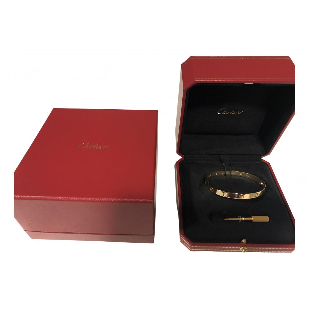 Cartier - Bracelet Love pour femme en or jaune - jaune